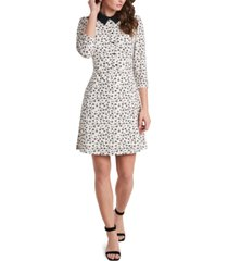 riley & rae prim ditsy-print collared dress, created for macy's
