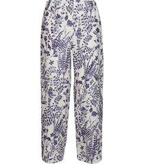 multicolor linen trousers