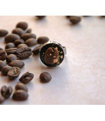 kawa - pierścionek unikatowy - stal szlachetna
