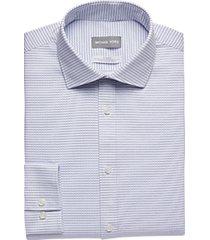 michael kors blue check slim fit dress shirt