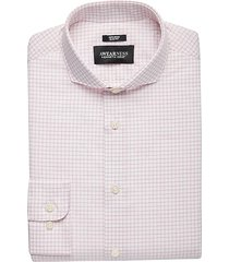 awearness kenneth cole men's burgundy red check slim fit dress shirt - size: 17 34/35