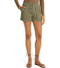 women's nili lotan utility shorts, size 10 - green