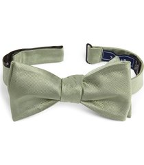 men's the tie bar silk solid bow tie, size one size - green