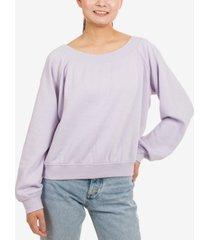 hippie rose juniors' long-sleeved sweatshirt