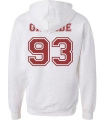 grande 93 maroon ink ariana grande printed on back of white hoodie s to 3xl