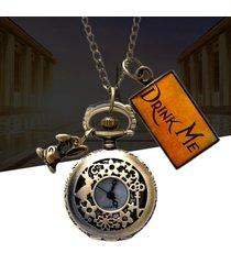orologio da taschino con orologio al quarzo da coniglio vintage con motivo a stelle cave a fiori per uomo donna