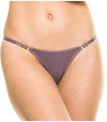 calcinha string com regulagem camurça - 532.021 marcyn lingerie string roxo