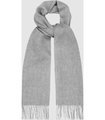 reiss ashton - lambswool cashmere blend scarf in soft grey, mens