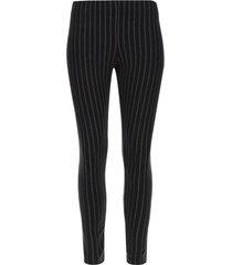 leggings rayas gruesas color negro, talla s