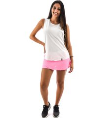 regata rich young fitness academia branca shorts saia fitness rosa com branco
