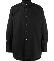 comme des garçons shirt patch-pocket stitched shirt - black