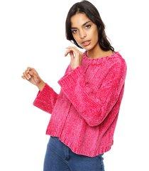 sweater fucsia moni tricot chenille