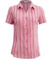 camisa intens manga curta algodão coral