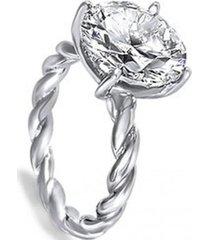 anillo gran solitario casual blanco arany joyas