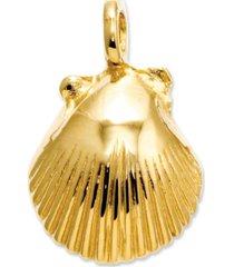 14k gold charm, seashell charm