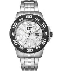 reloj plateado cat pw drive