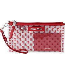 rosso polka dots pouch