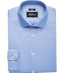 awearness kenneth cole men's light blue diamond slim fit dress shirt - size: 15 1/2 34/35