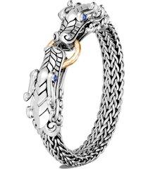 legends naga' sapphire sterling silver hammered bracelet