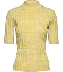 5184 - tanis high n t-shirts & tops knitted t-shirts/tops gul sand