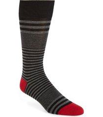 men's cole haan skater stripe socks, size one size - black