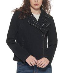dkny jeans studded moto jacket
