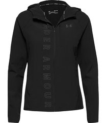 w ua qualifier outrun the storm jacket outerwear sport jackets zwart under armour