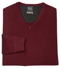travel tech v-neck merino wool-blend men's sweater clearance