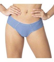 calcinha econfort fio dental duplo lateral larga feminina - feminino