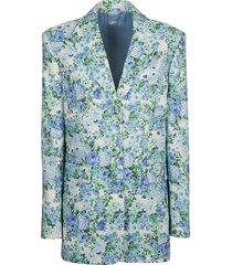 magda butrym floral printed blazer
