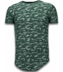 t-shirt korte mouw justing fashionable camouflage long fi army pattern