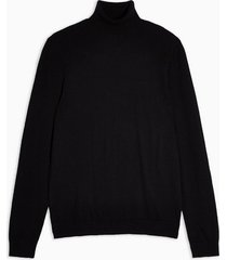 mens black roll neck sweater