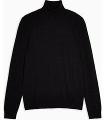mens black roll neck sweater