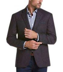 joe joseph abboud brown herringbone slim fit sport coat