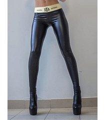 leggings súper elásticos con letras negras