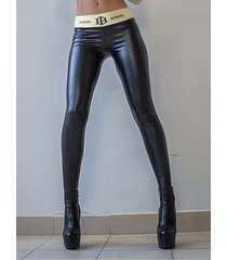 black letter super stretch leggings