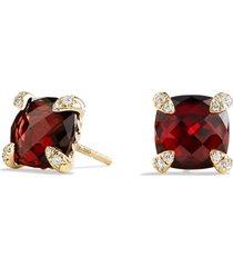 women's david yurman 'chatelaine' earrings with semiprecious stones in 18k gold