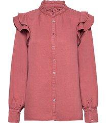 bella new shirt långärmad skjorta rosa second female