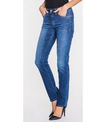 niebieskie jeansy ze średnim stanem ella
