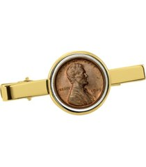 american coin treasures 1909 first-year-of-issue lincoln penny coin tie clip