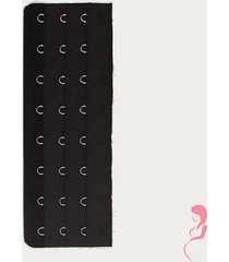 op en top zwanger beha / corset verlenger 8 haaks zwart (per stuk)