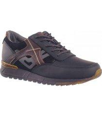 zapato sneaker casual para hombre san polos 3303 color negro x café