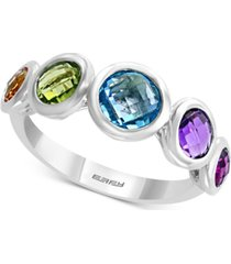 effy multi-gemstone (2-1/2 ct. t.w.) statement ring in sterling silver