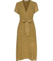 klea long dress aop 6621 knälång klänning grön samsøe samsøe