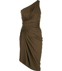 alexandre vauthier bronze one-shoulder dress