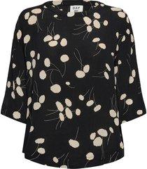 day heart blouses short-sleeved zwart day birger et mikkelsen