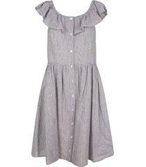 michael kors sleeveless ruffled dress