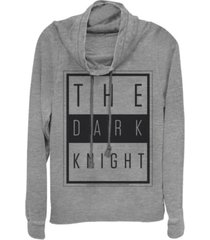 fifth sun dc batman the dark knight text poster cowl neck women's pullover fleece