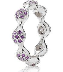 anel de prata jardim pavé lilás