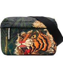 dsquared2 pochete com estampa de tigre - verde